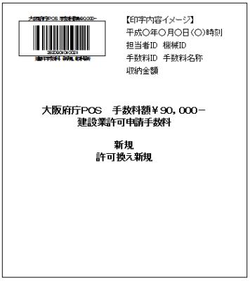 大阪府Pos納付用連絡票