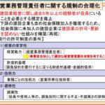 経営業務管理責任者に関する規制の合理化