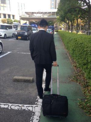 大阪南港にて